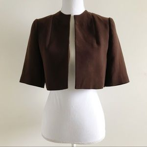 Calvin Klein Bolero Shrug Blazer Jacket Brown 2
